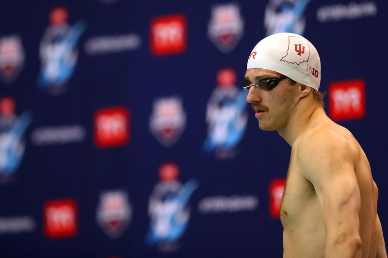BLOOMINGTON, INDIANA - MAY 18: Zach Apple competes in the 200 Freestyle on Day Three of the TYR Pro Swim Series at Bloomington at Counsilman Billingsley Aquatics Center on May 18, 2019 in Bloomington, Indiana. (Photo by Maddie Meyer/Getty Images)